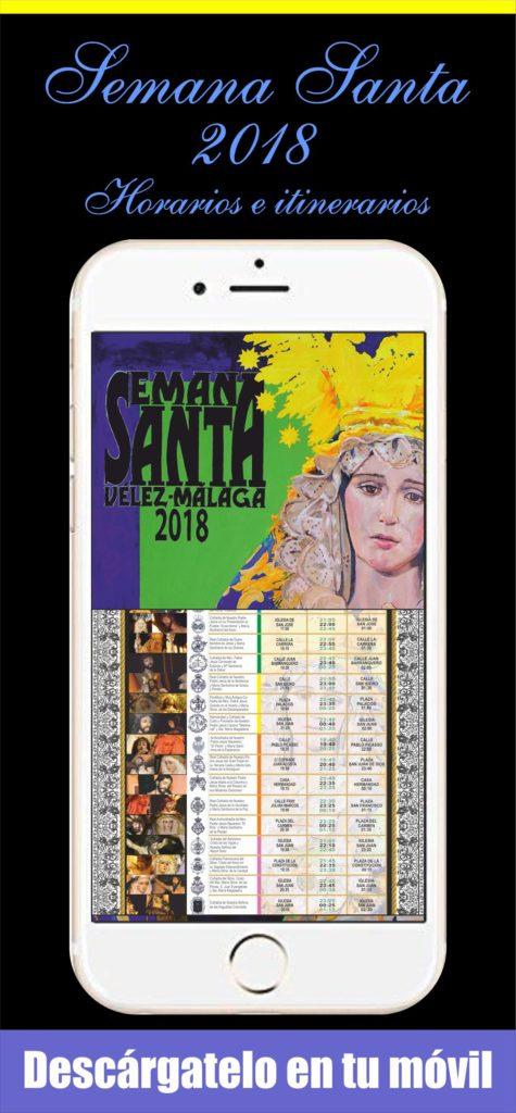 Itinerario de Semana Santa con los horarios de 2018 en Vélez-Málaga